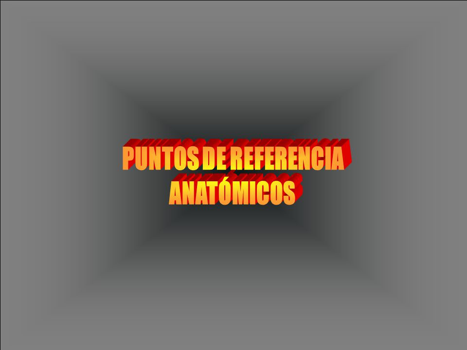 PUNTOS DE REFERENCIA ANATÓMICOS
