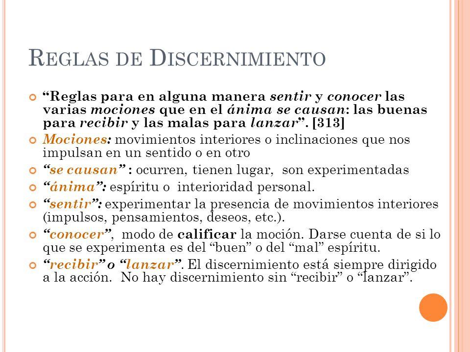 Reglas de Discernimiento
