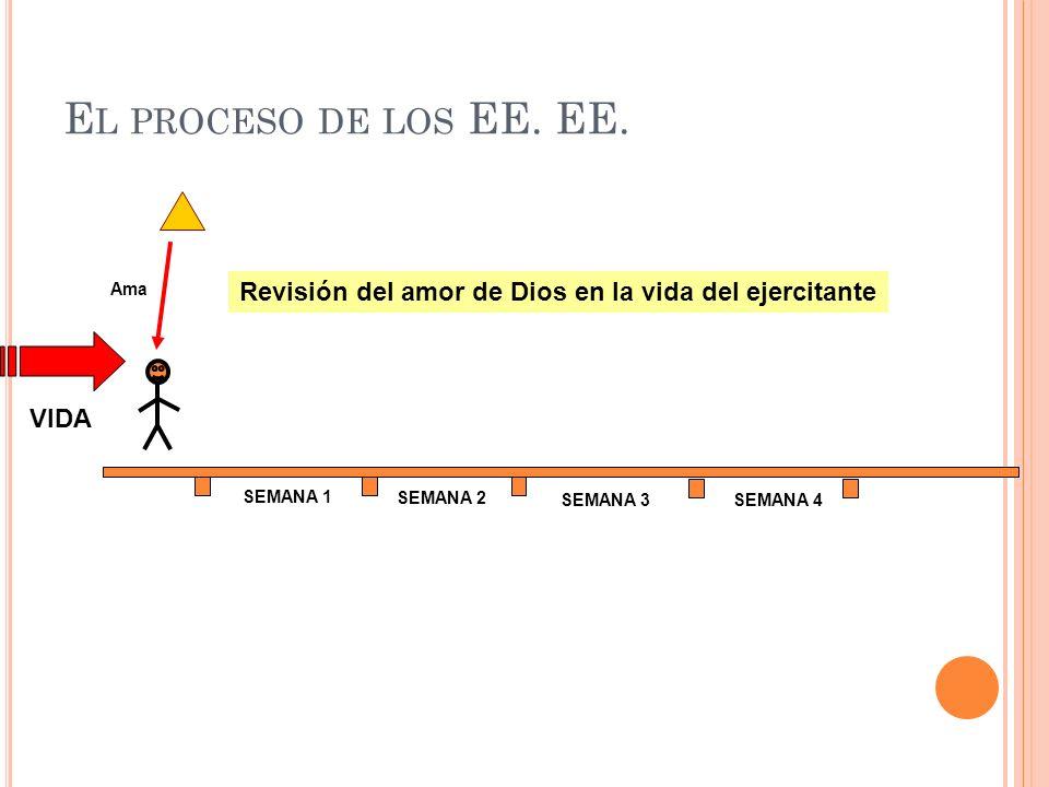 El proceso de los EE. EE. Ama. Revisión del amor de Dios en la vida del ejercitante. VIDA. SEMANA 1.