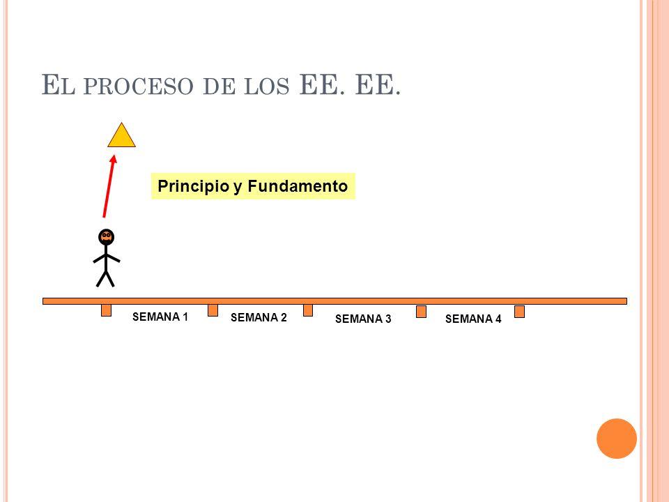 El proceso de los EE. EE. Principio y Fundamento SEMANA 1 SEMANA 2