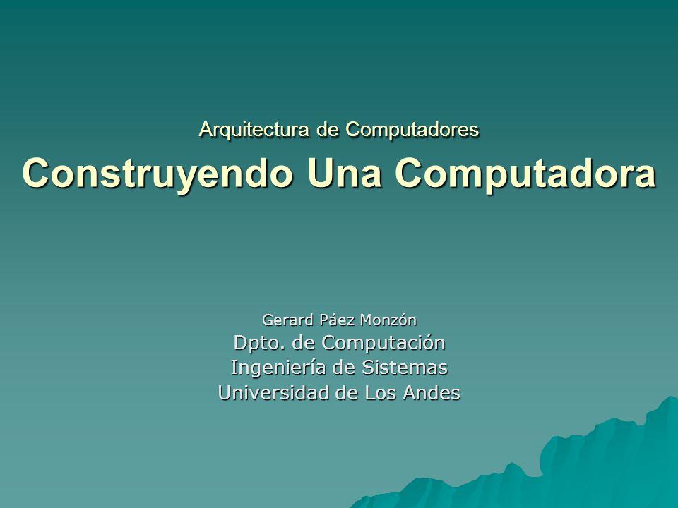 Arquitectura de computadores construyendo una computadora for Arquitectura de computadores