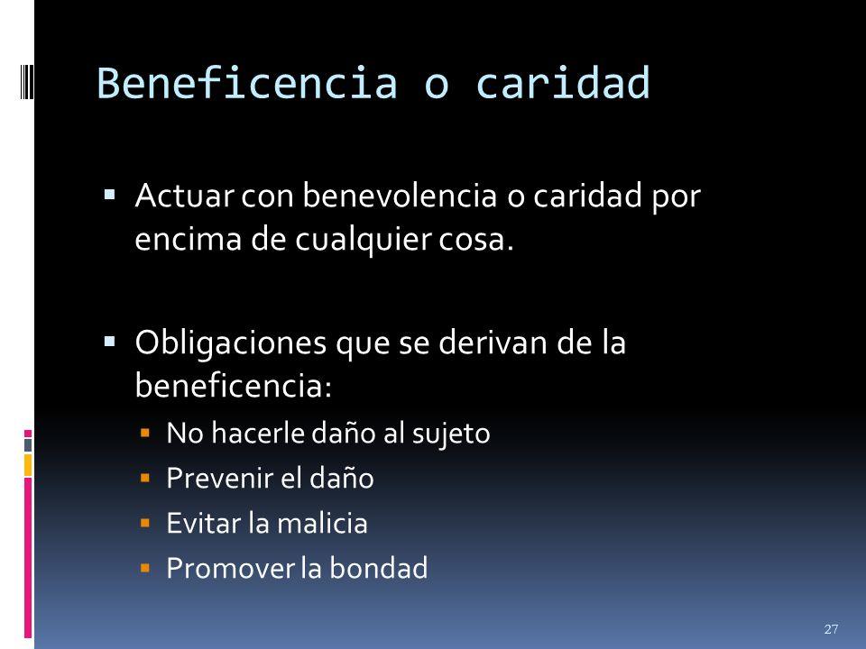 Beneficencia o caridad