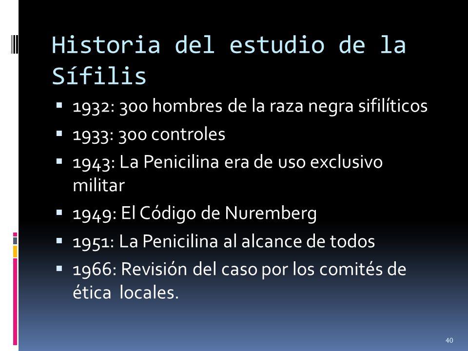 Historia del estudio de la Sífilis