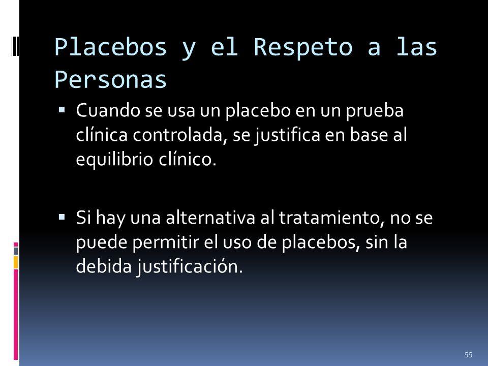 Placebos y el Respeto a las Personas
