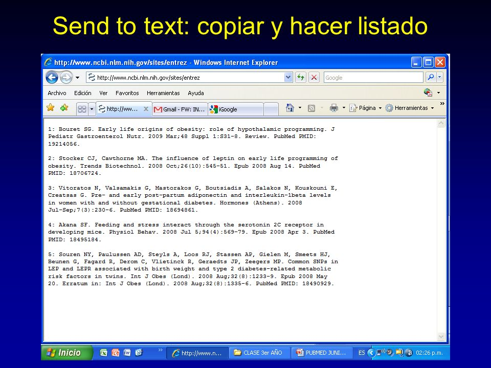 Send to text: copiar y hacer listado