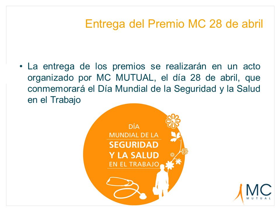 Entrega del Premio MC 28 de abril