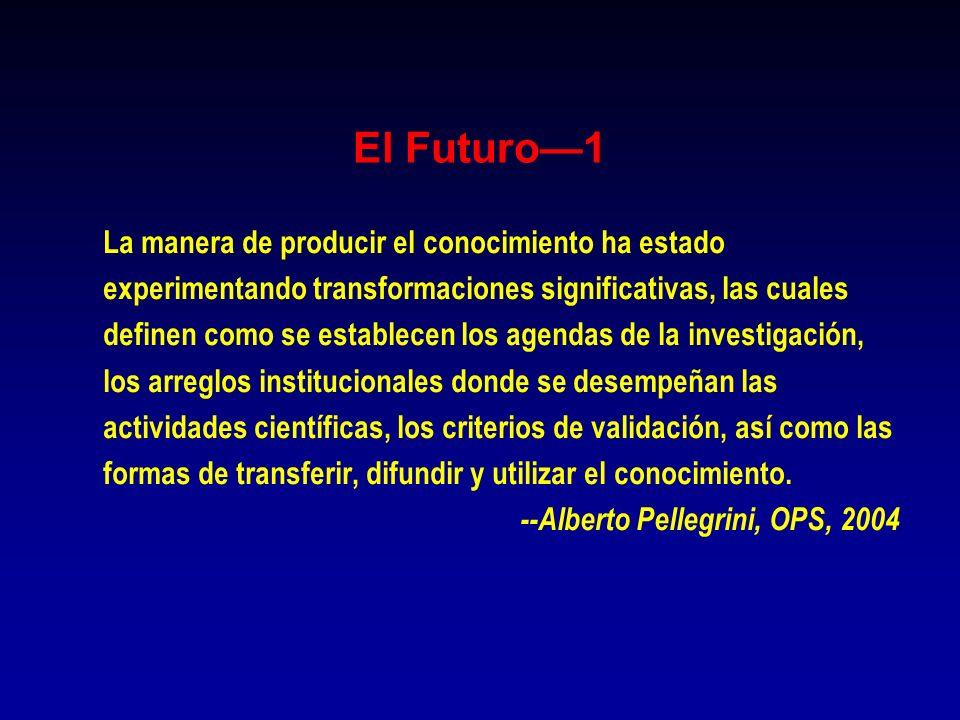 El Futuro—1 La manera de producir el conocimiento ha estado