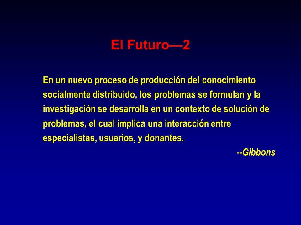 El Futuro—2 En un nuevo proceso de producción del conocimiento