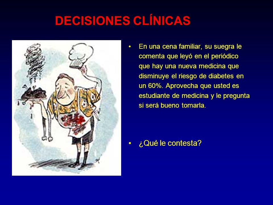 DECISIONES CLÍNICAS ¿Qué le contesta