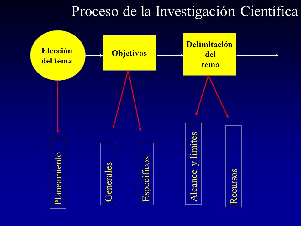 Proceso de la Investigación Científica