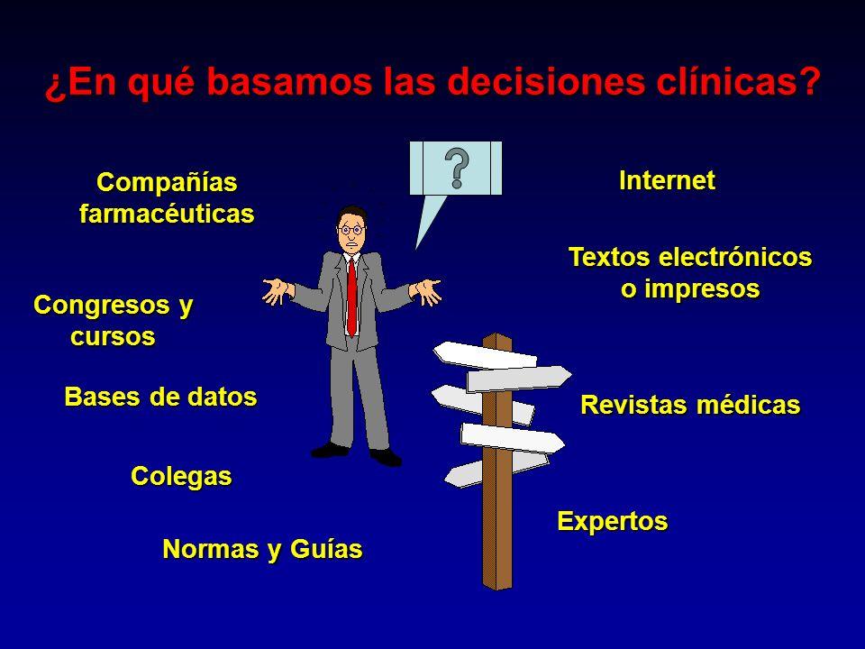 ¿En qué basamos las decisiones clínicas