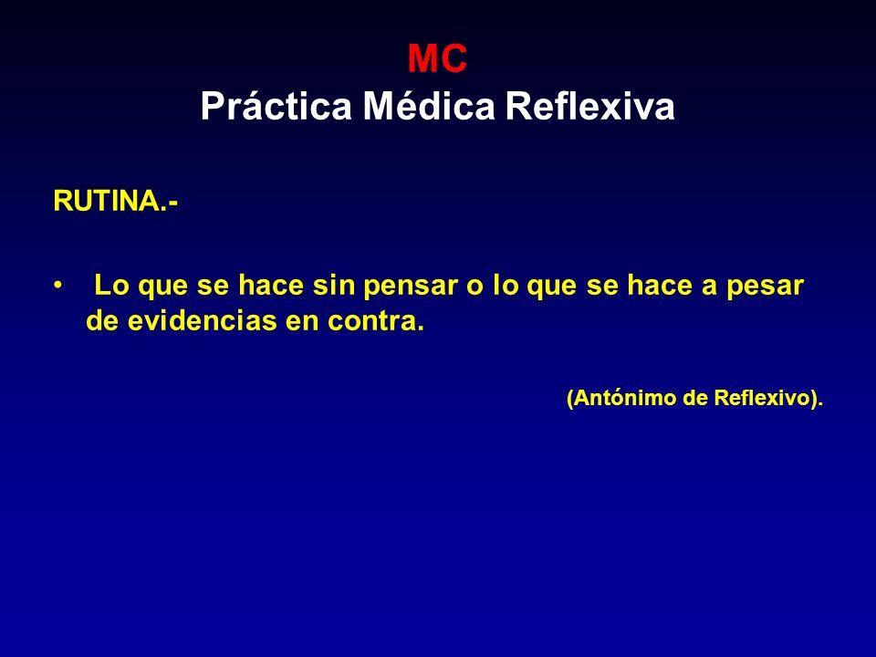 MC Práctica Médica Reflexiva