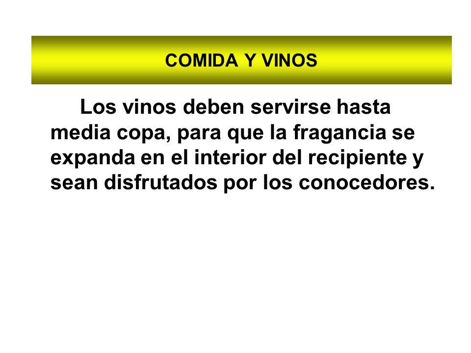 COMIDA Y VINOS