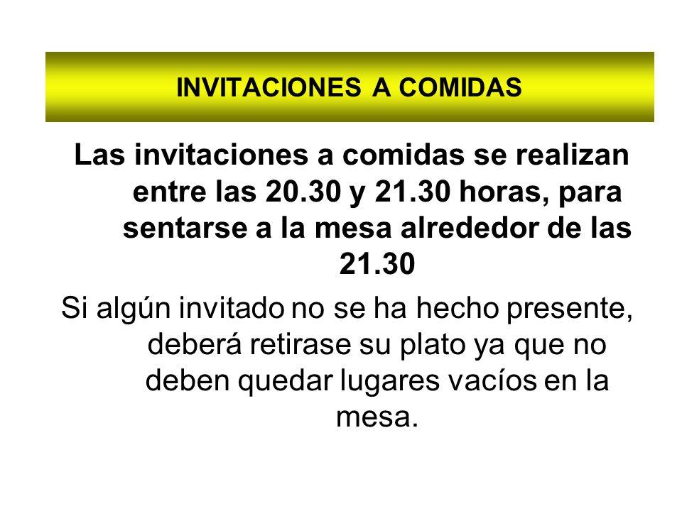 INVITACIONES A COMIDAS