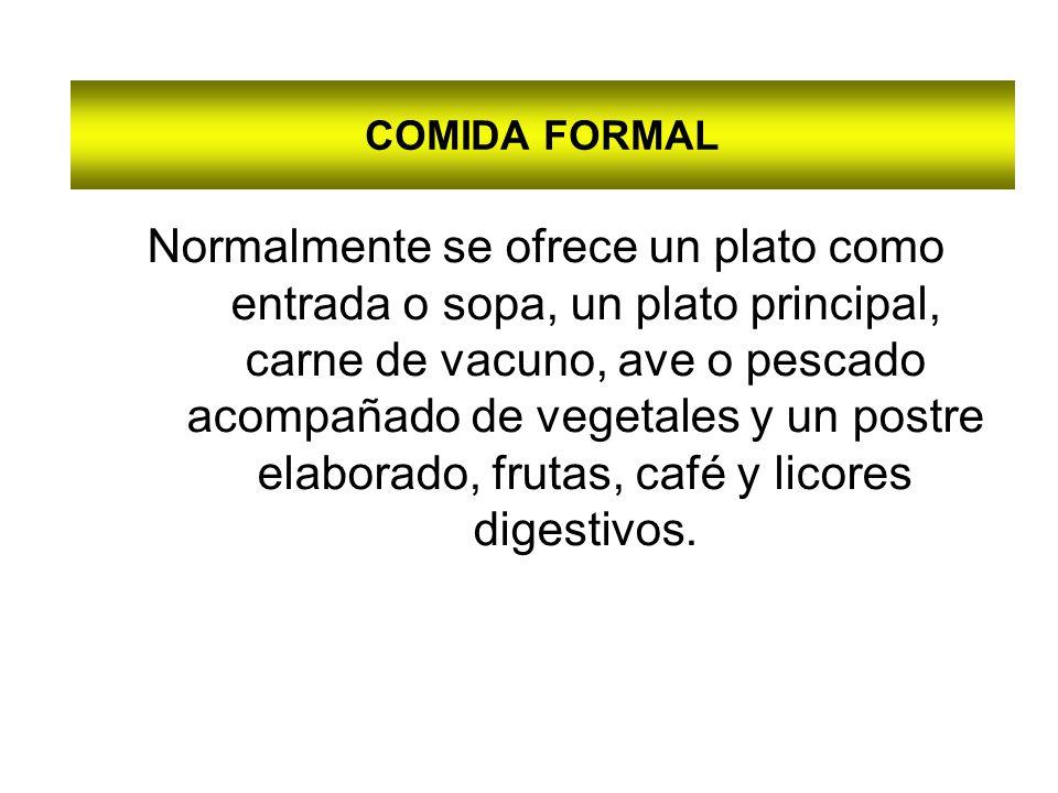 COMIDA FORMAL