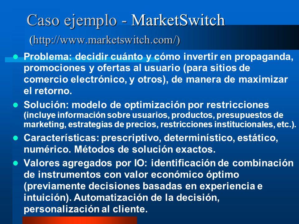 Caso ejemplo - MarketSwitch (http://www.marketswitch.com/)