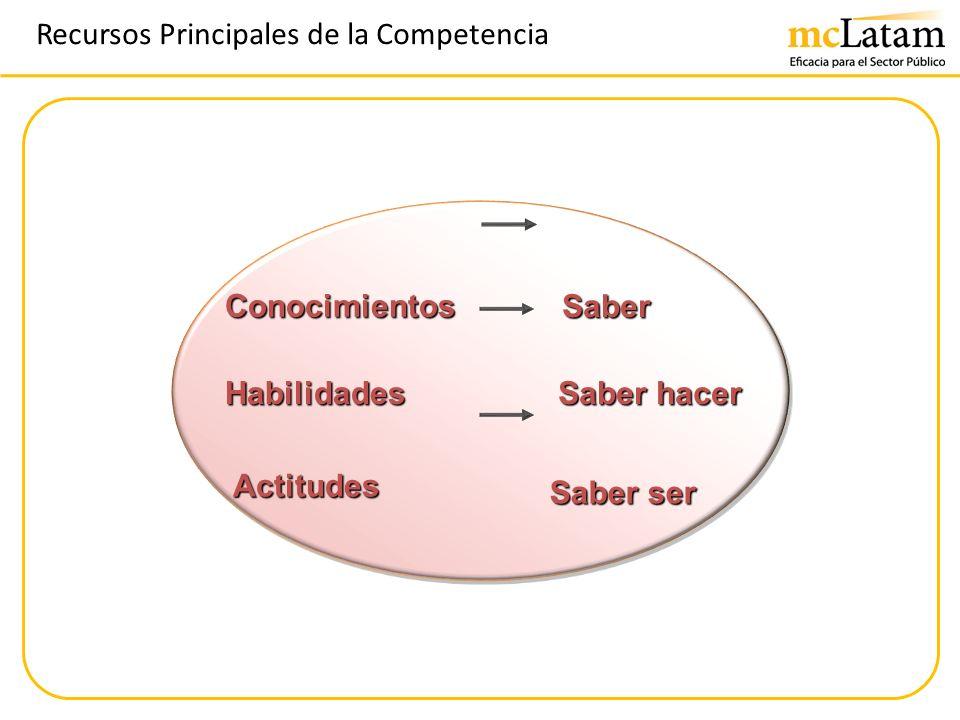 Recursos Principales de la Competencia