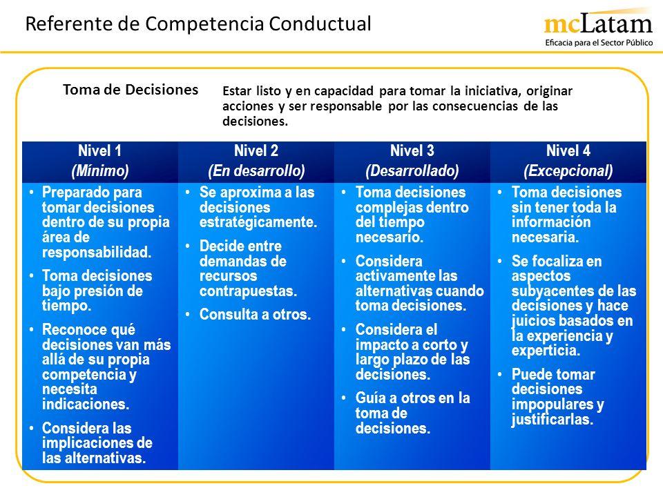 Referente de Competencia Conductual