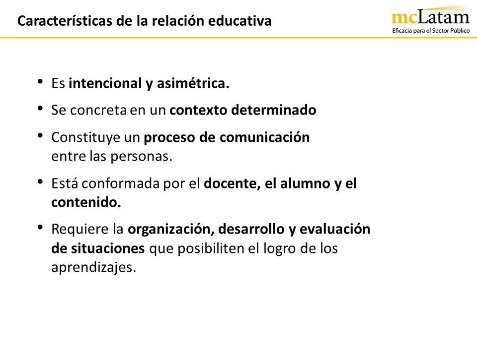Características de la relación educativa