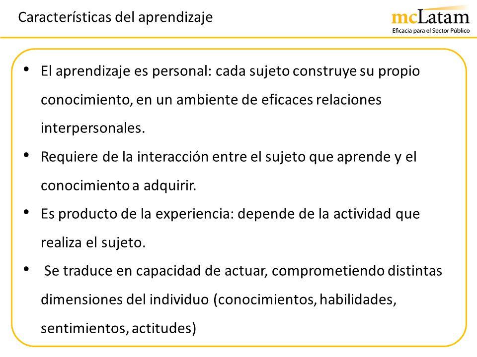 Características del aprendizaje