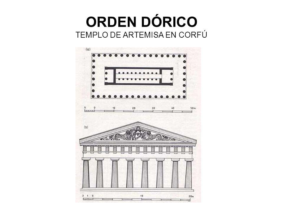 ORDEN DÓRICO TEMPLO DE ARTEMISA EN CORFÚ