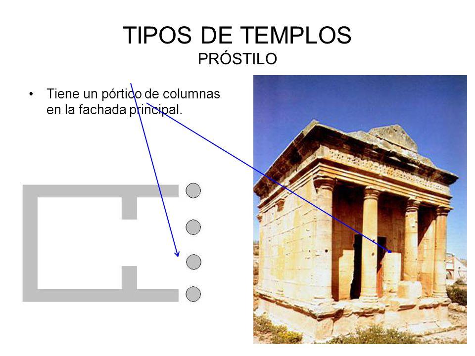 TIPOS DE TEMPLOS PRÓSTILO