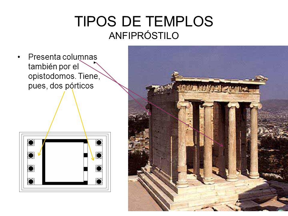 TIPOS DE TEMPLOS ANFIPRÓSTILO