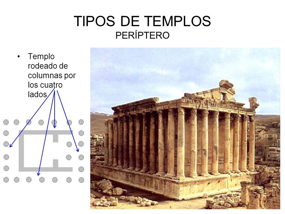 TIPOS DE TEMPLOS PERÍPTERO