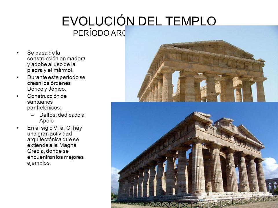 EVOLUCIÓN DEL TEMPLO PERÍODO ARCAICO ( S. VIII-VI a. C.)