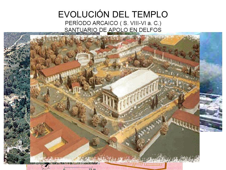 EVOLUCIÓN DEL TEMPLO PERÍODO ARCAICO ( S. VIII-VI a. C