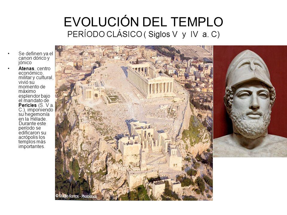 EVOLUCIÓN DEL TEMPLO PERÍODO CLÁSICO ( Siglos V y IV a. C)