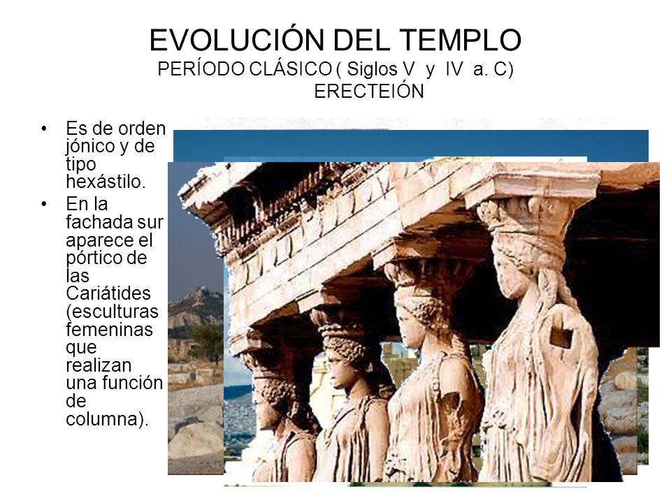 EVOLUCIÓN DEL TEMPLO PERÍODO CLÁSICO ( Siglos V y IV a. C) ERECTEIÓN