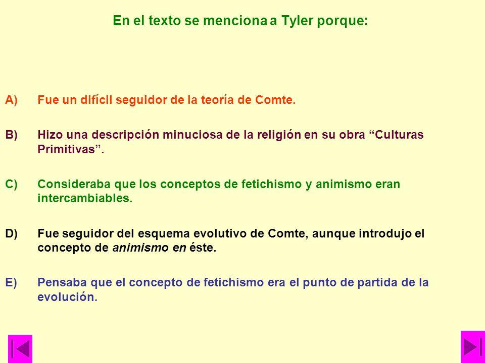 En el texto se menciona a Tyler porque: