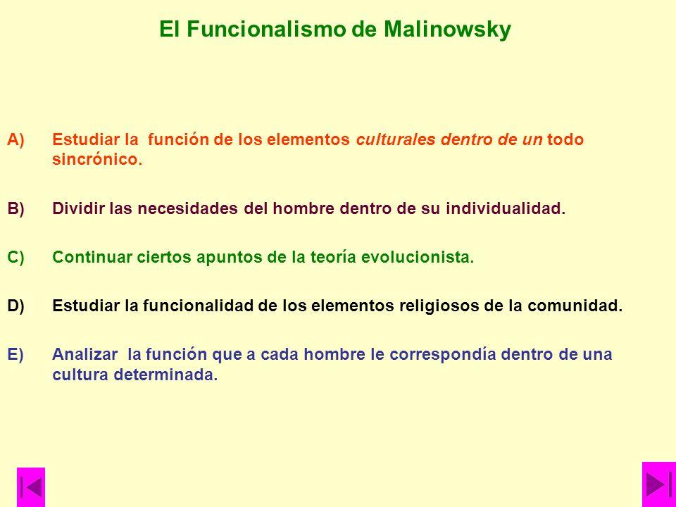 El Funcionalismo de Malinowsky