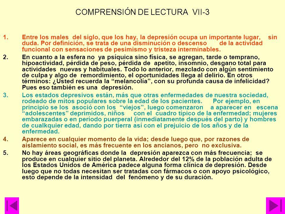 COMPRENSIÓN DE LECTURA VII-3