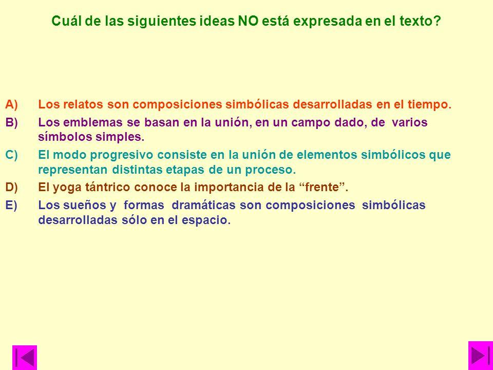 Cuál de las siguientes ideas NO está expresada en el texto