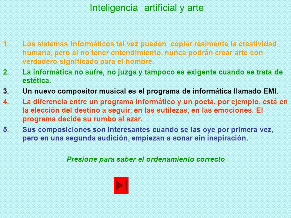 Inteligencia artificial y arte