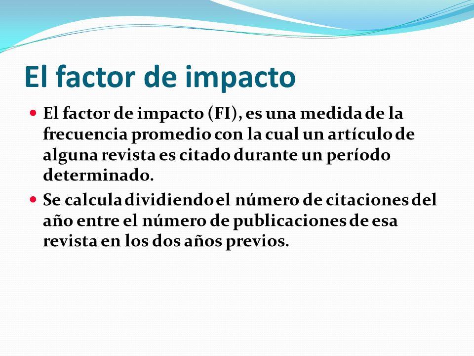 El factor de impacto