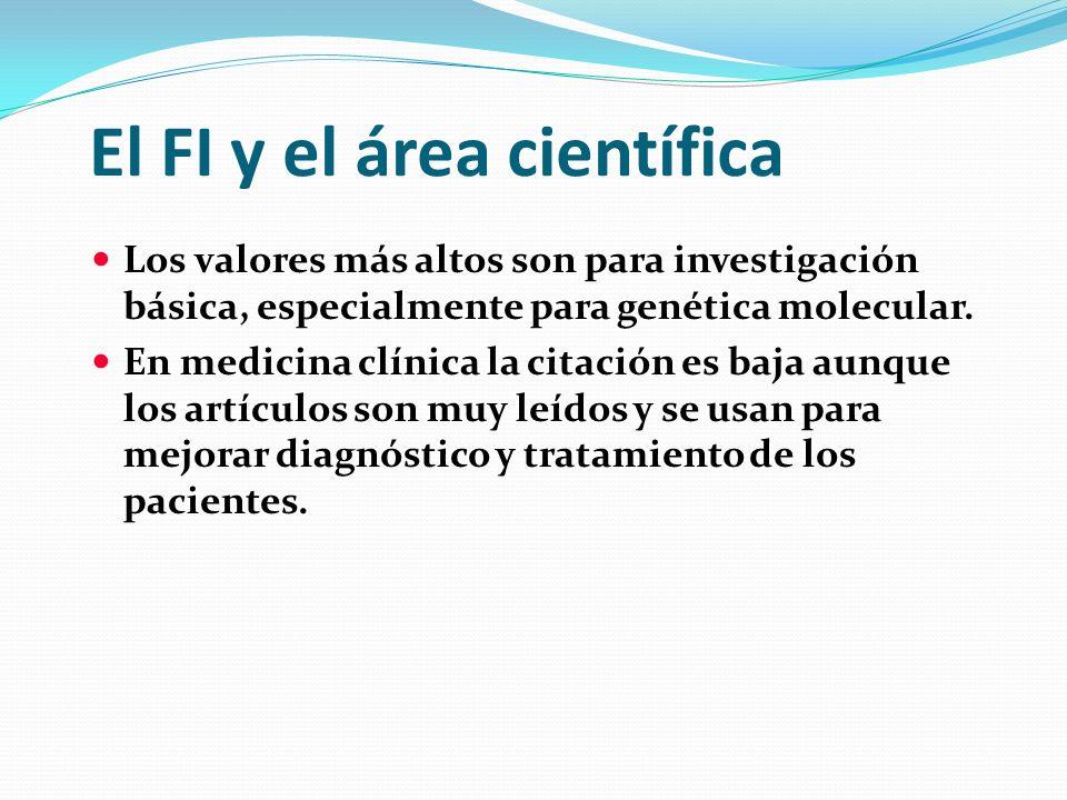El FI y el área científica