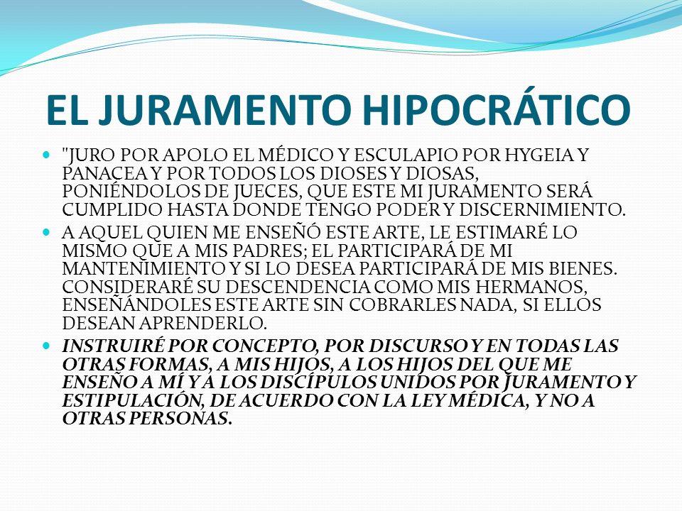 EL JURAMENTO HIPOCRÁTICO