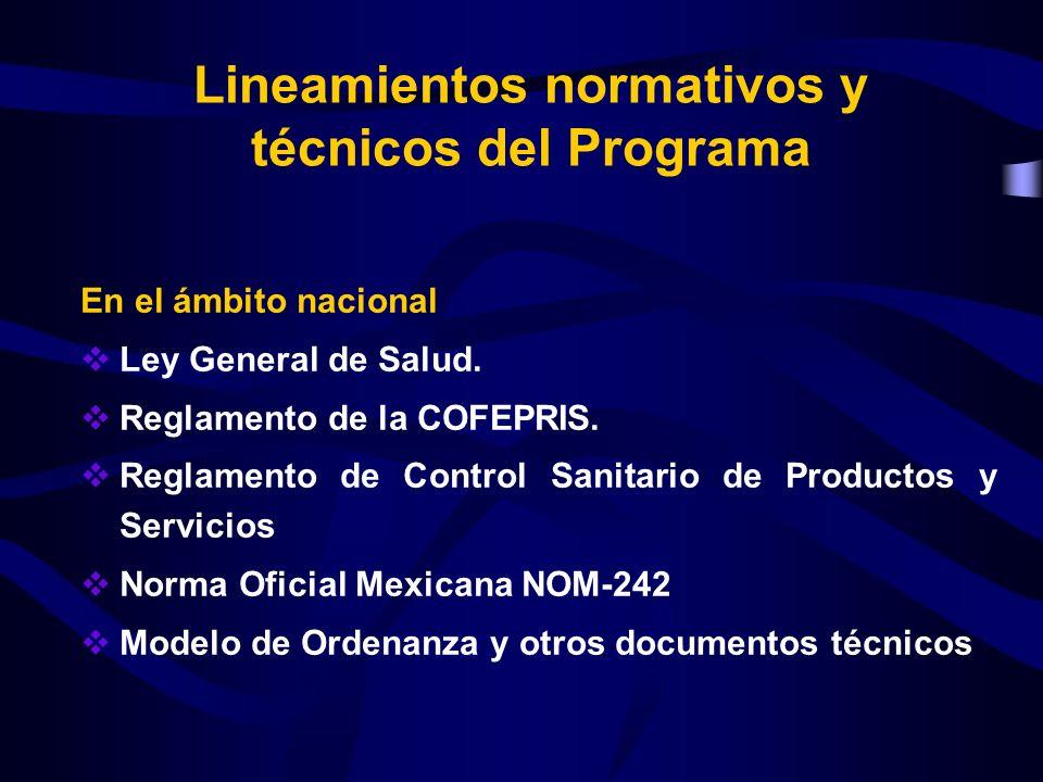 Lineamientos normativos y técnicos del Programa