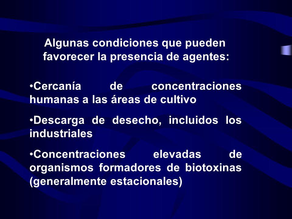 Algunas condiciones que pueden favorecer la presencia de agentes: