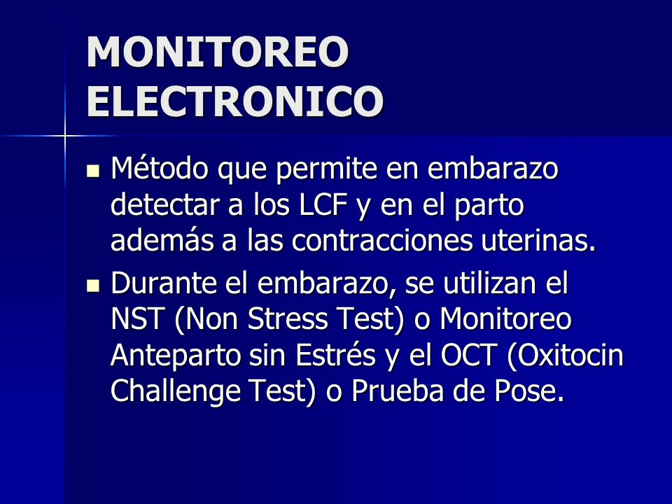 MONITOREO ELECTRONICO