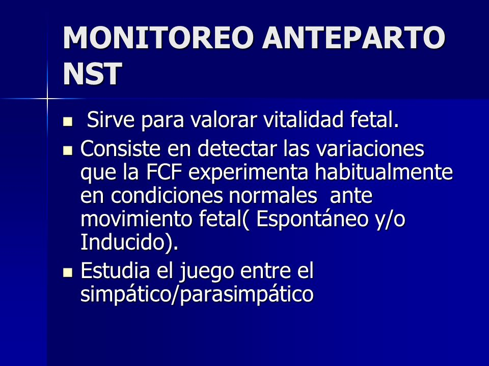 MONITOREO ANTEPARTO NST