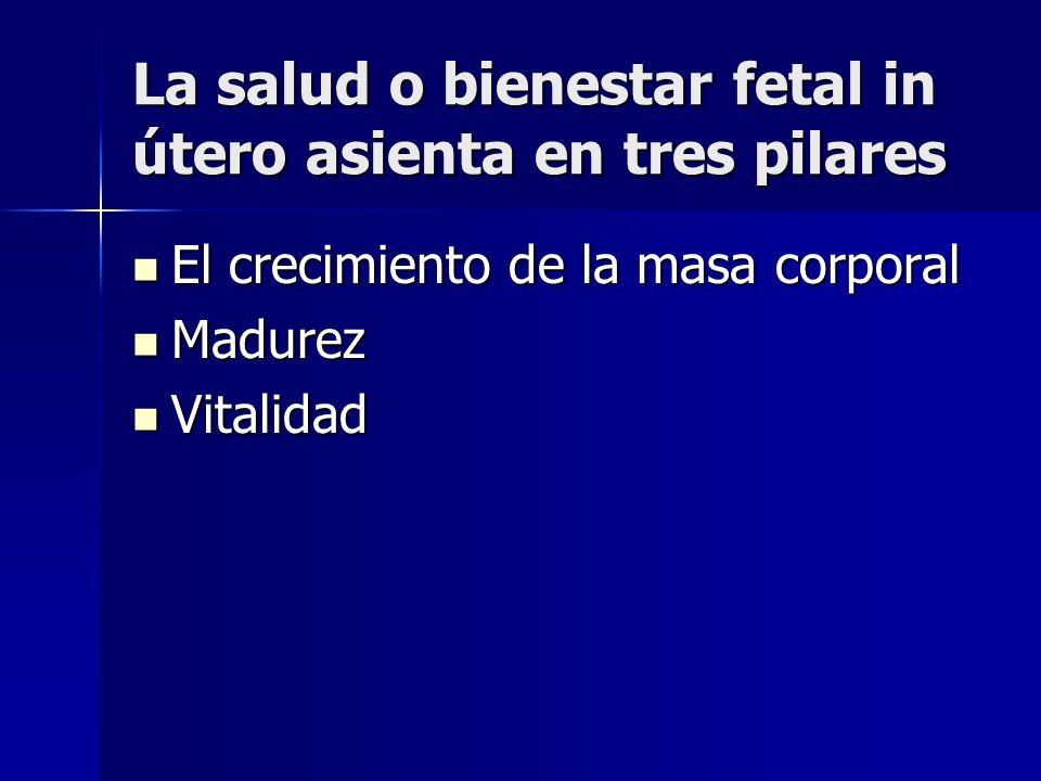 La salud o bienestar fetal in útero asienta en tres pilares