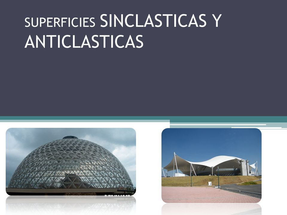 SUPERFICIES SINCLASTICAS Y ANTICLASTICAS