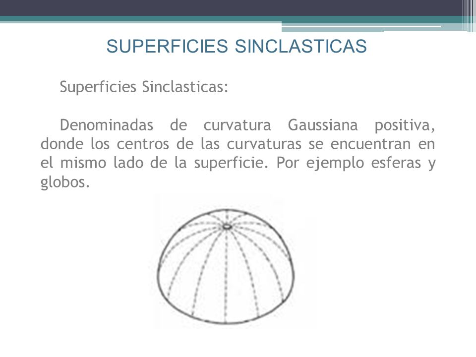 SUPERFICIES SINCLASTICAS