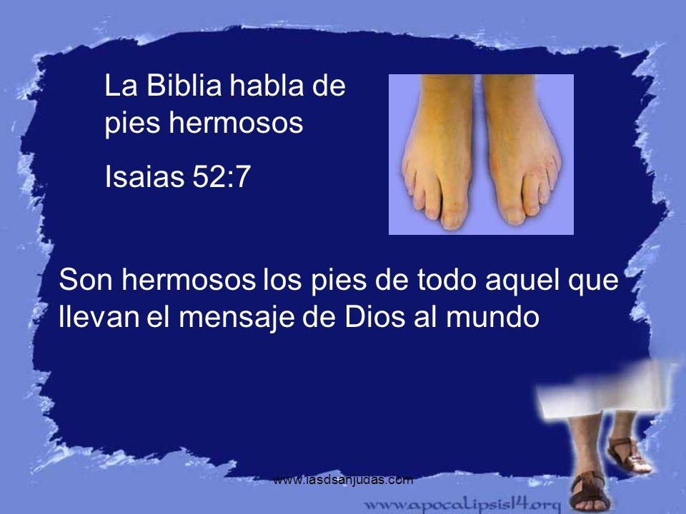 La Biblia habla de pies hermosos Isaias 52:7
