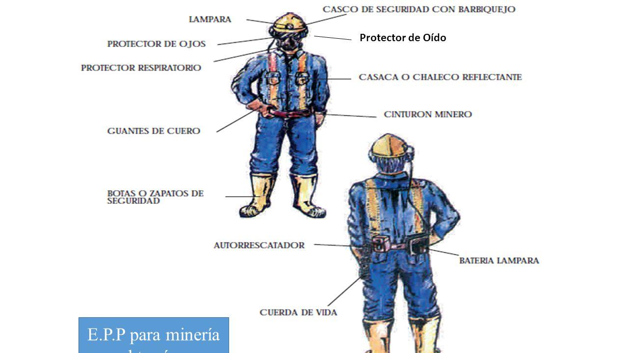 E.P.P para minería subterránea