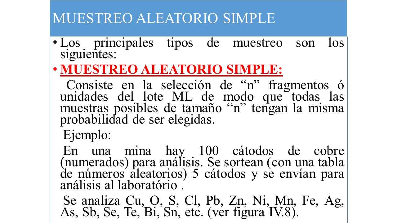 MUESTREO ALEATORIO SIMPLE